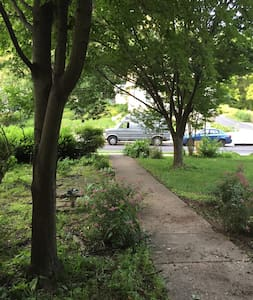 This is the path from the street to the house - very flat.
