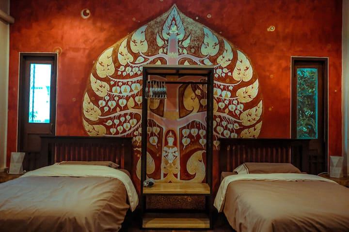[一梦浮生] Dreamland Villa ใกล้คูเมือง- ห้องเตียงแฝด 2