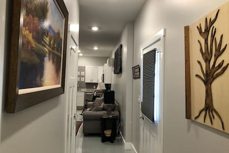 36 inch hallway to common area and bedroom.