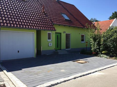 Det gröna huset i Swabia med gästrum