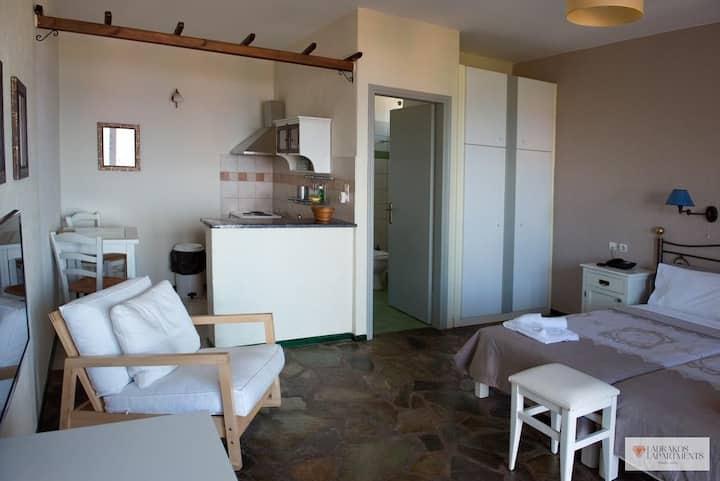 Classic Studio with Sea View | Adrakos Apartments