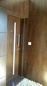 This is the main door of entrance in the apartment.
