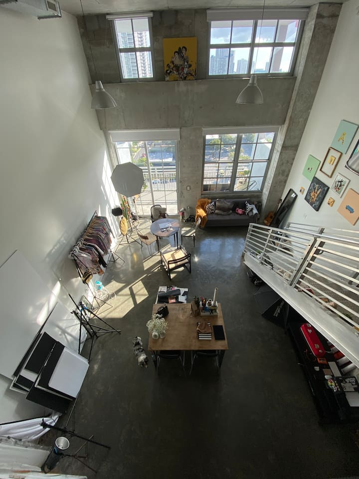 Loft Photo studio for rent, loft office wynwood