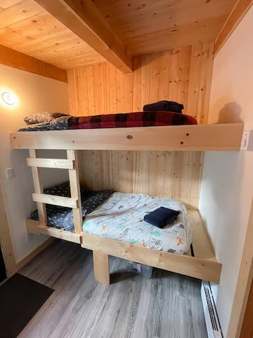 Bunk beds in the bunkhouse