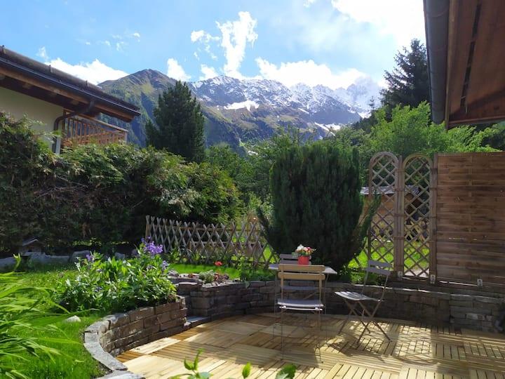 apartment terrace and garden