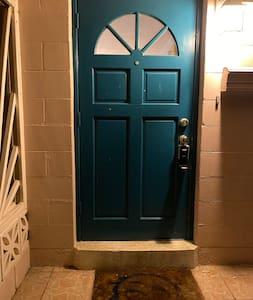 Step up into door