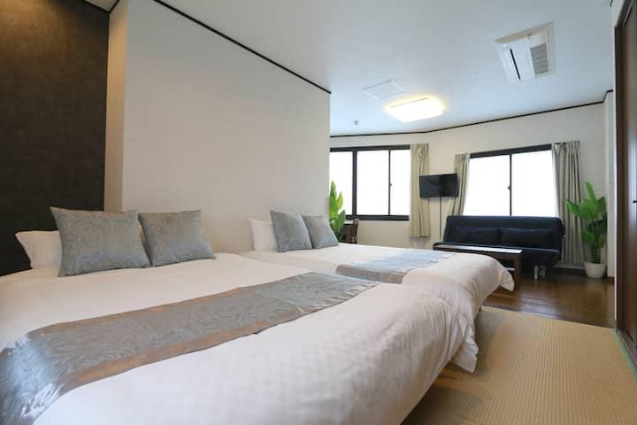 Liz4 和室雅舍,日式設計,悠雅舒適,梅田跟前,尊貴地段,四通八達,免費停車