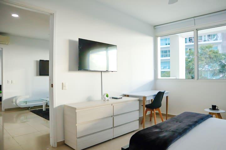 Habitación 1 con mesa Working
