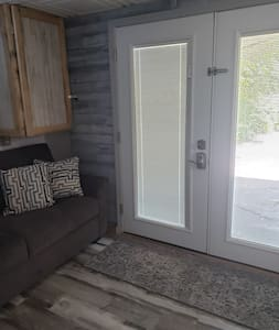 very wide doorway...