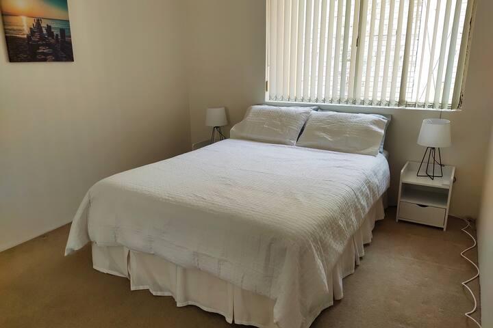 Bedroom 2 Queen bed with  built in wardrobe