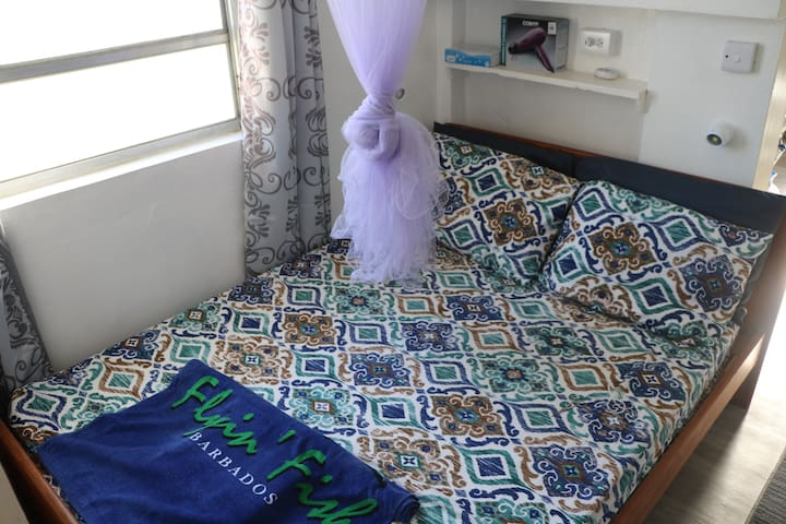 Double Bed with Mosquito Net