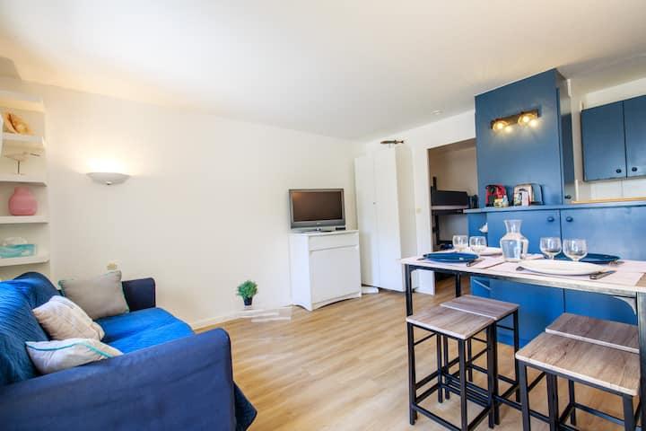 Appartement plage Benoit, 80m de la mer, jardinet