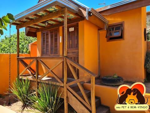 Lodge en Águas de Lindóia  con Patio /Linda Vista