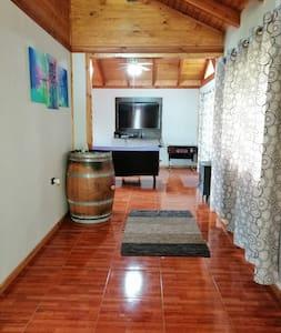 Galería de acceso principal a áreas comunes como living y cocina.