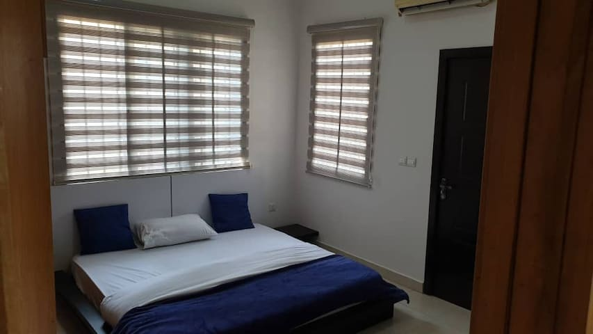 """Bedroom downstairs none En-suite bedroom at the top floor. Room has a a 4.5""""X6 size bed."""