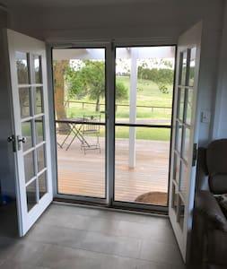 Double entry doors allows easy access