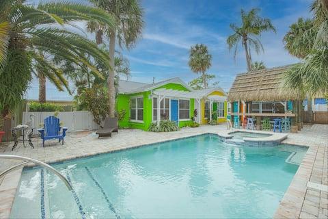 Очаровательный пляжный коттедж №3 в квартале от побережья Мексиканского залива!