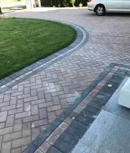 Wide paving walkway over 6 ft