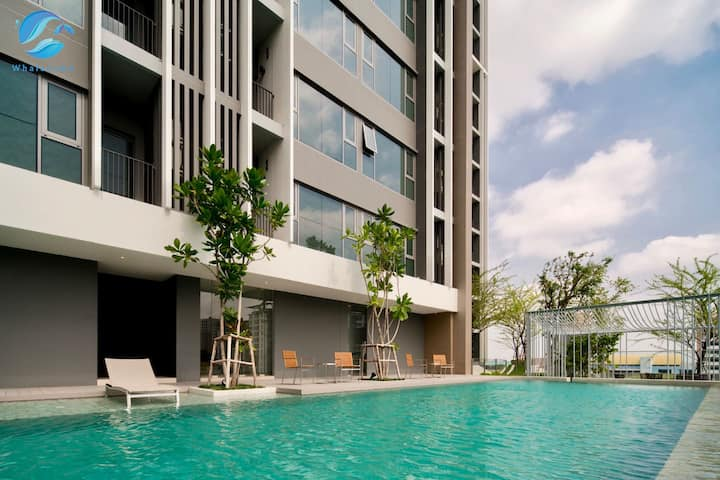W1】Sukhumvit Luxury 1BR Pool&Gym&BTS&Shopping Mall