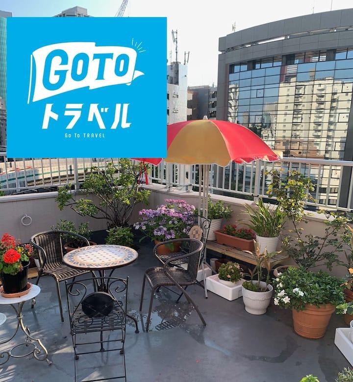 Roppongi area,Shirokane Takanawa Sta 6 min,