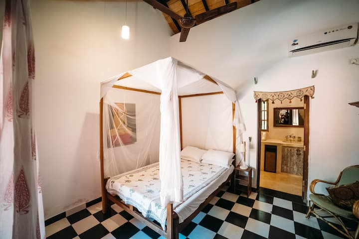 Double Room 5 in peaceful Yoga Centre setting