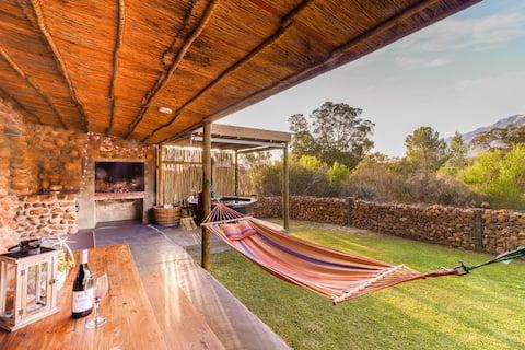 Steenbok gårdshus - Alwyn hytte, eget boblebad