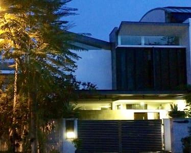 Humble abode at nightfall
