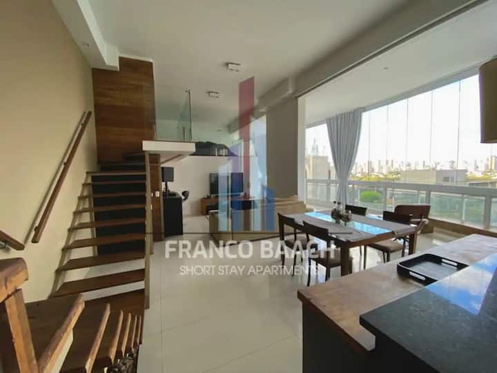 Fashionable Luxury LOFT 130m2-2QUEENS-GYM/POOL/SPA