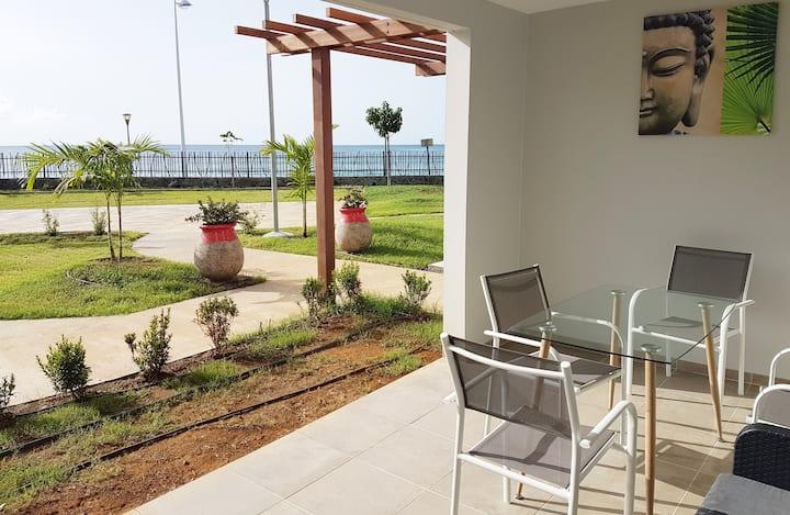 LA PERLE- Appartement vue mer-plage à 15 mètres