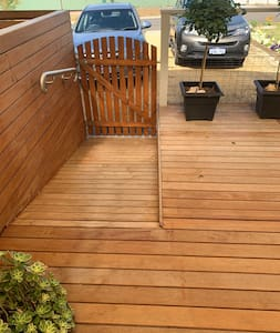 Driveway and entrance is flat, ramp and handrails in place at front and back of the house. Only 2 Slight level changes throughout the inside, 2 back decking steps out into the backyard