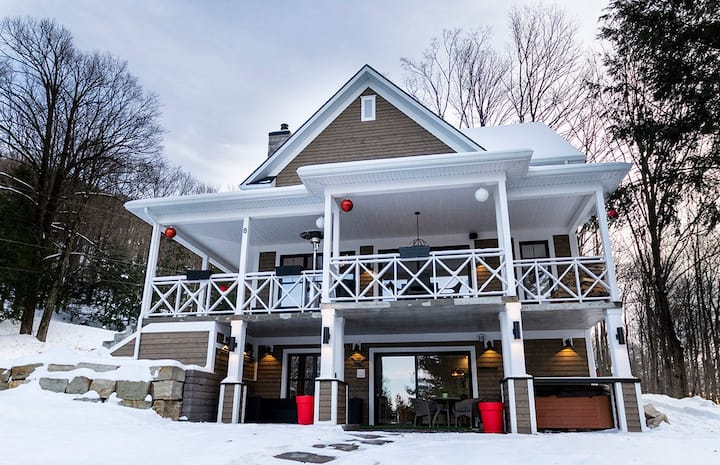 ❤️ Spa, foyer, massage à 10 min. de ski ⛷ Bromont.