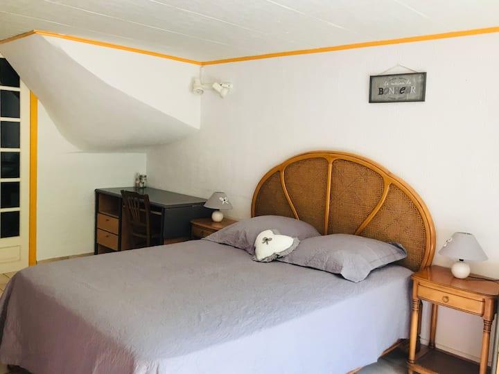 Chambre privée idéale «vacances ressourçantes»