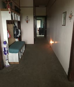 Extra wide Hallway as well as an extra wide front door