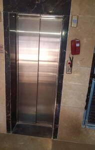 An elevator to get to our apartment