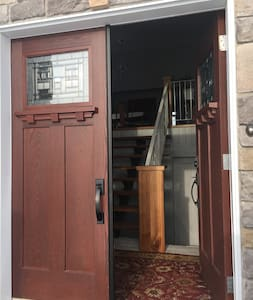 Double entrance door.