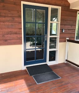 Entrance ramp at door step.