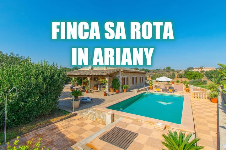 Finca SA ROTA for 6 people with pool in Ariany