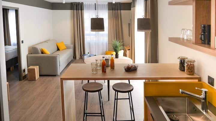1-bedroom apt. in a 3* lifestyle hotel - up to 4