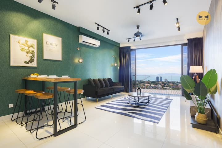 50%OFF【Seaview】3BR Emerald •FoodAround •USM•Washer