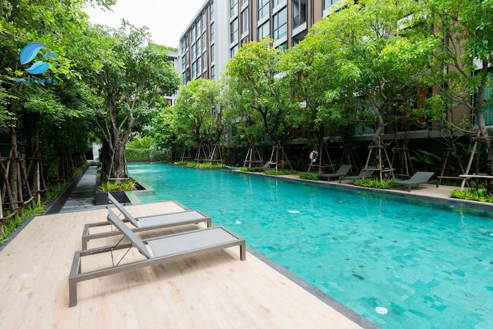 V4】Thonglor 1BR&Sukhumvit 36&Pool&Gym/Shuttle bus