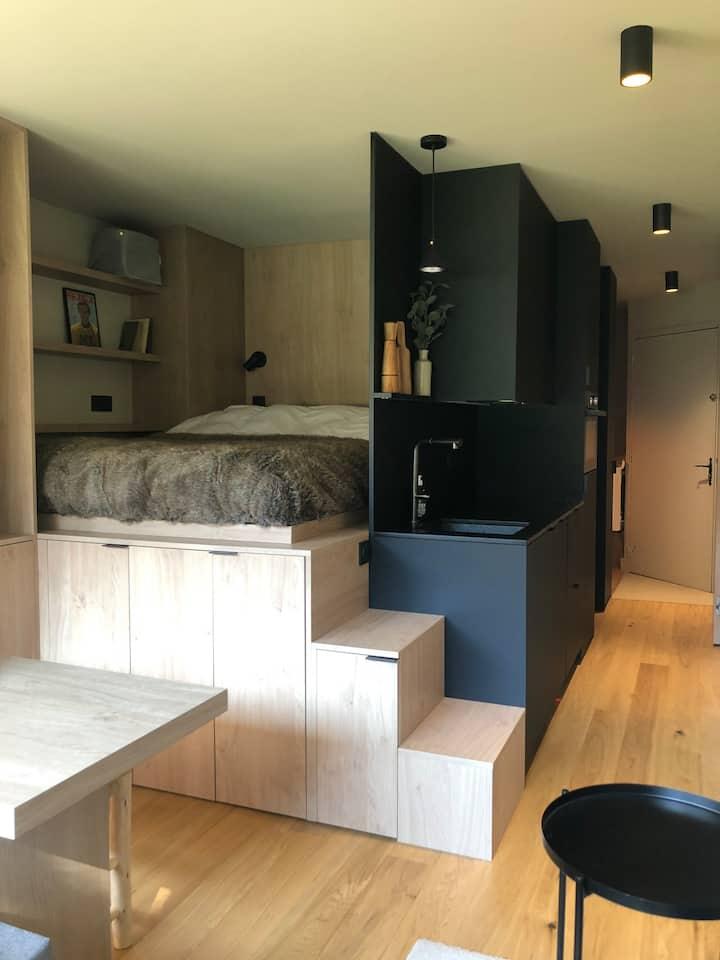 Studio/cabine entièrement rénové dans le centre