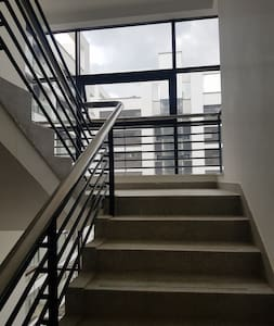 staircases as an alternative mean of accessing the building. Although we have elevators working 24/7