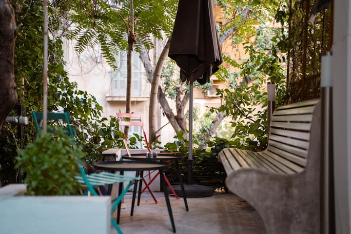 Athens Green❀Purple Heart Cosy studio with garden