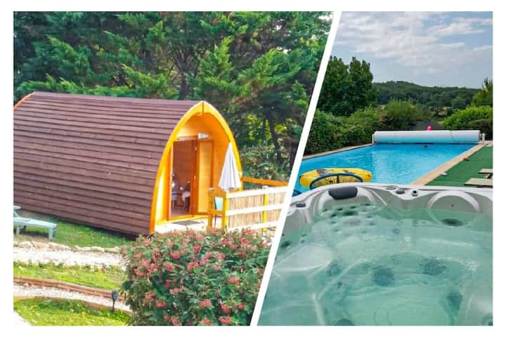Belloréade Mégapod bergerie insolite Spa/piscine