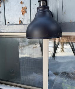 These exterior lights come on at dusk and turn off at dawn.
