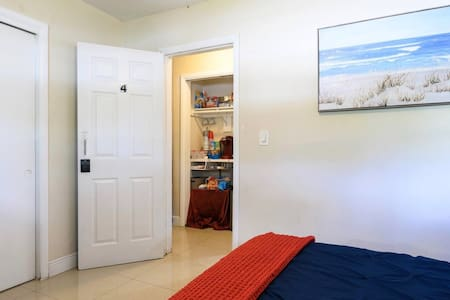This is the bedroom entrance and hallway for the kitchenette