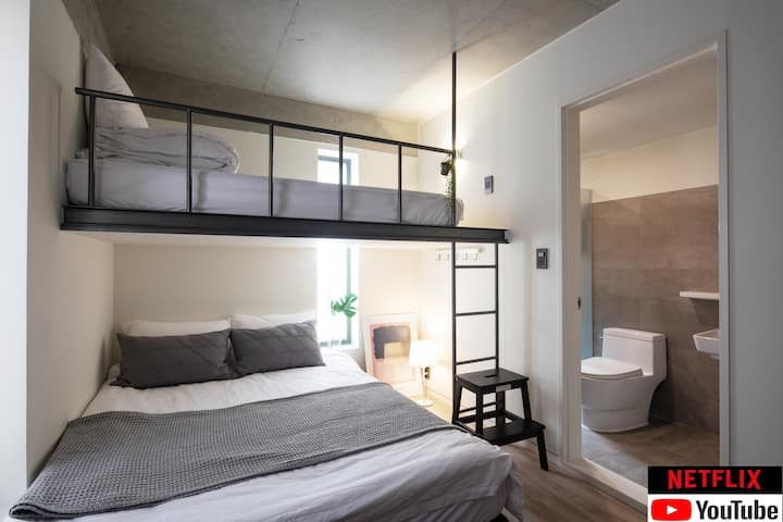 *New built - 3people family room, 5min hongik sta