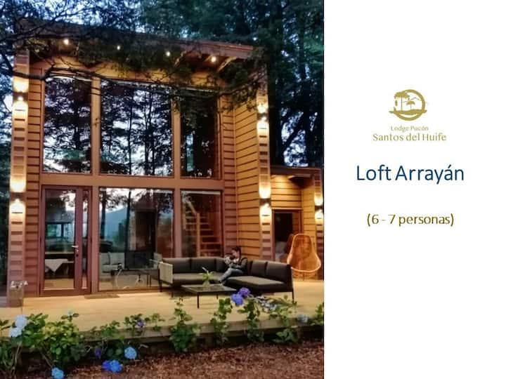 Lodge Pucón Santos del Huife Loft Arrayán (6-7 p)
