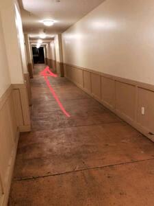Well lit hallways.