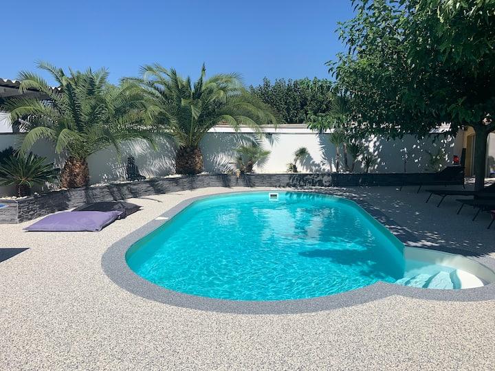Villa avec piscine entre Nîmes et Uzès